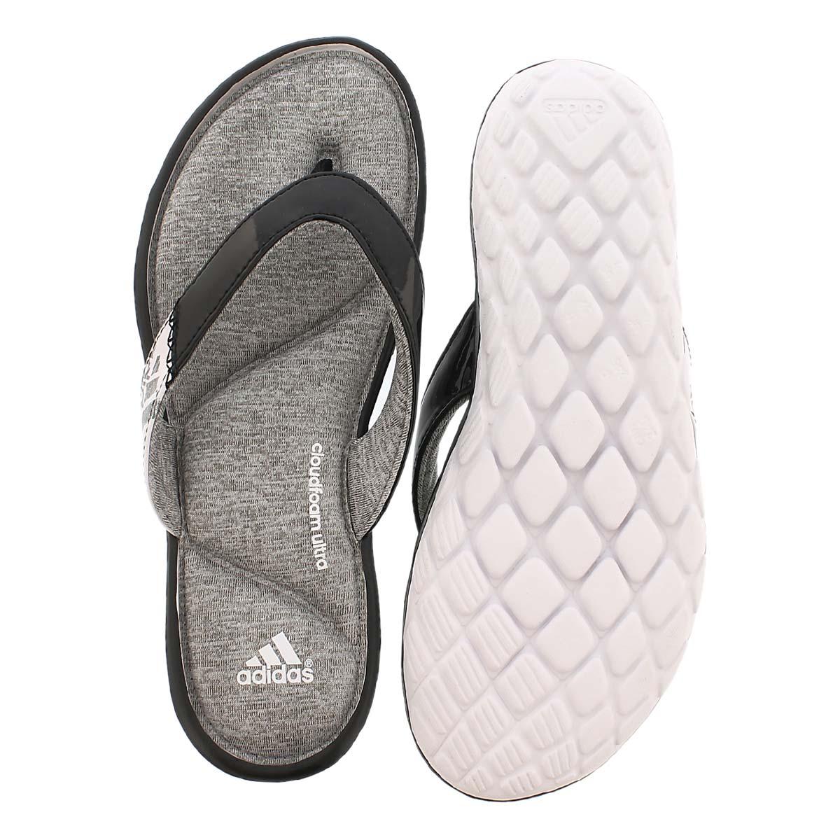 Lds Anyanda Flex Thong blk/wht sandal