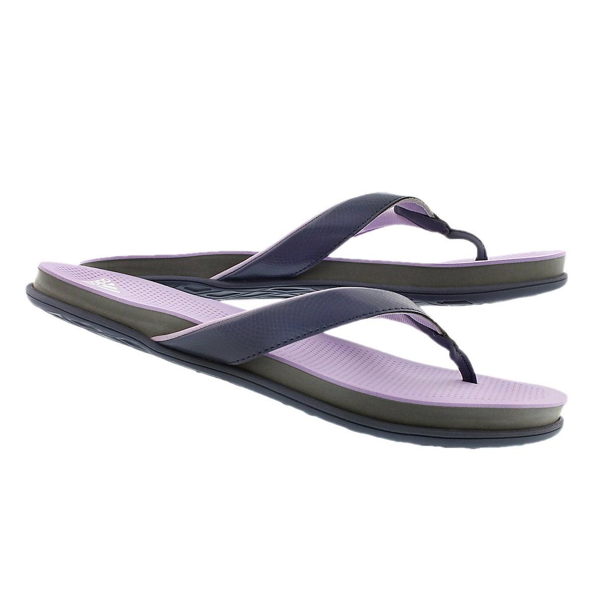 Lds Supercloud Plus blk/ppl thong sandal