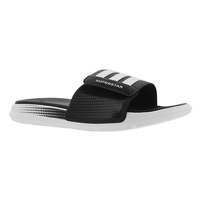 Adidas Men's SUPERSTAR 4G black/white sport slides
