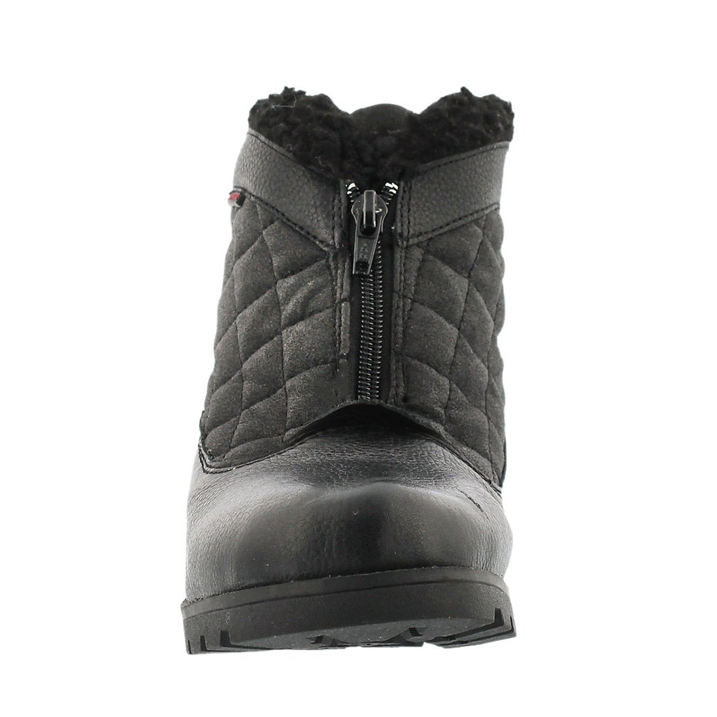 Lds Salena 2 blk wtrpf front zip boot