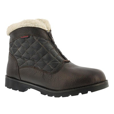 SoftMoc Women's SALENA 2 brown waterproof ankle boots