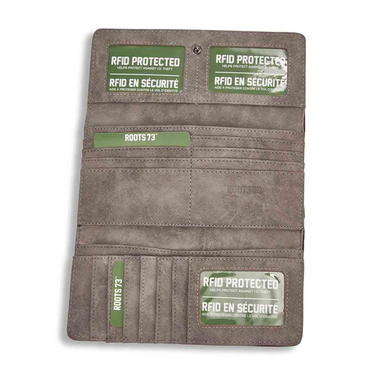Lds Saloon Collection taupe slim wallet