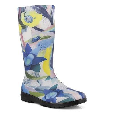 Lds Sammie blue mid wtpf rain boot