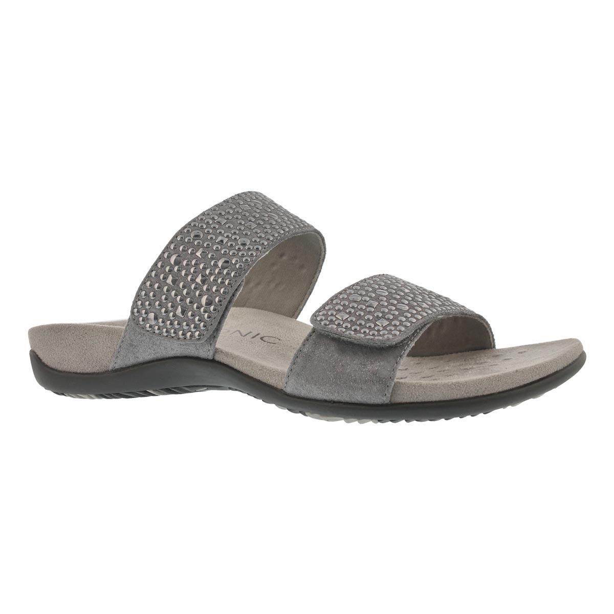 Women's SAMOA pewter arch support slide sandals