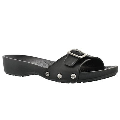 Crocs Women's SARAH black adjusable casual sandals