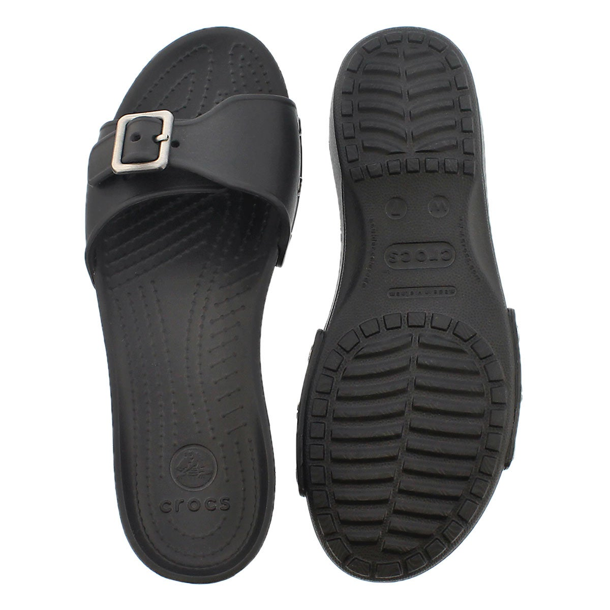 Lds Sarah black adjusable casual sandal