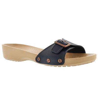 Lds Sarah navy adjusable casual sandal
