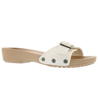 Lds Sarah oyster adjusable casual sandal