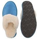 Lds Sassy blue mem. foam slipper