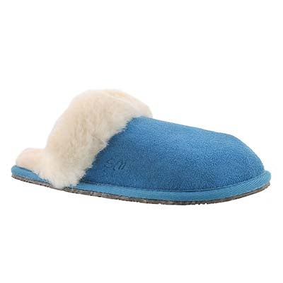 SoftMoc Women's SASSY blue memory foam slippers