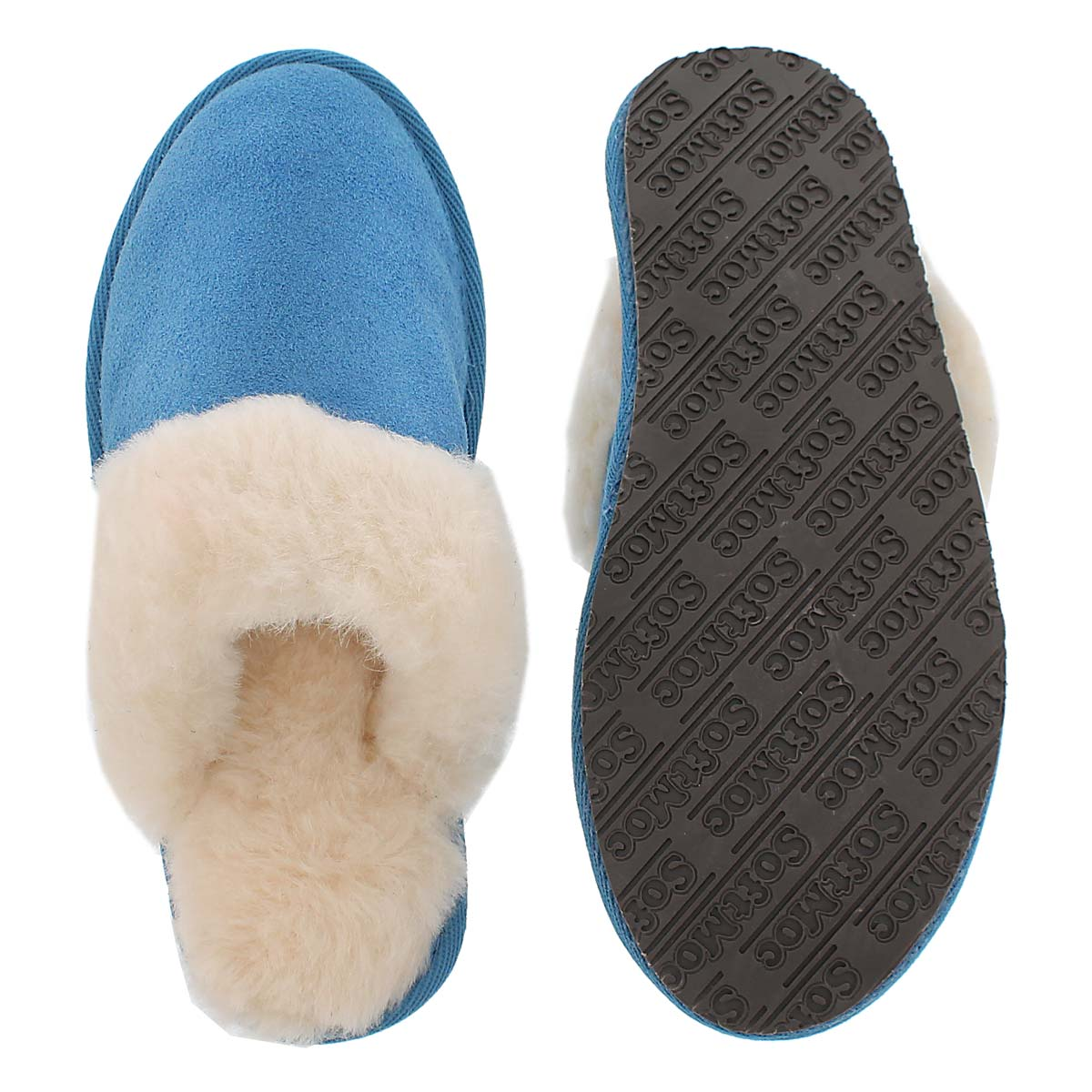 Lds Sassy blue mem. foam slipper