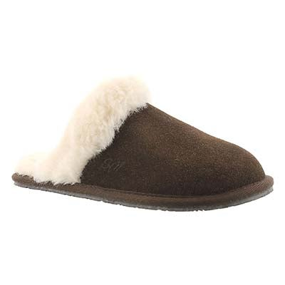 Lds Sassy chocolate mem. foam slipper