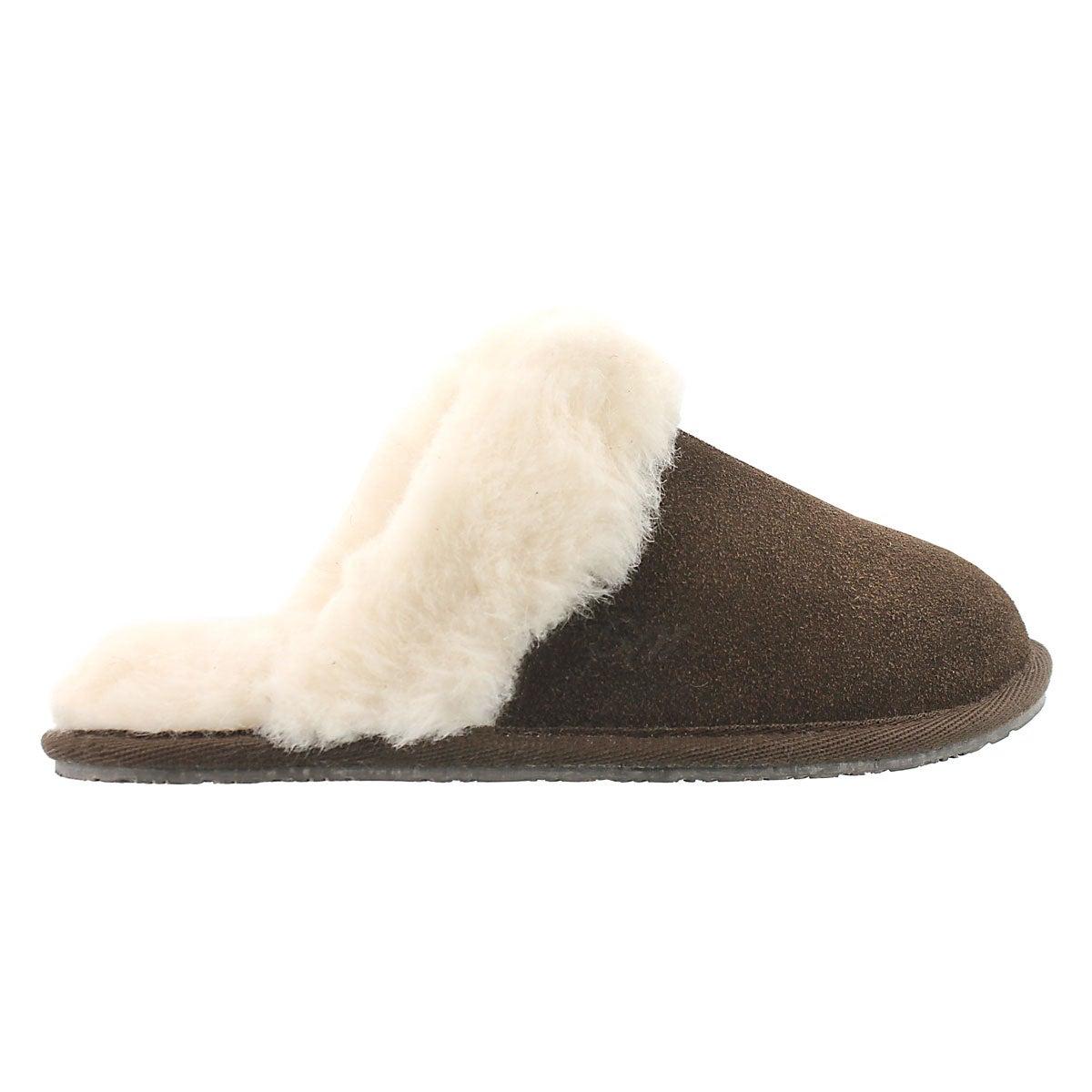 Lds Sassy chocolate mem. foam slipper