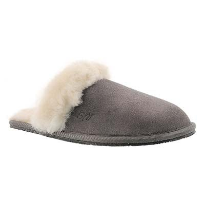 SoftMoc Women's SASSY grey memory foam slippers
