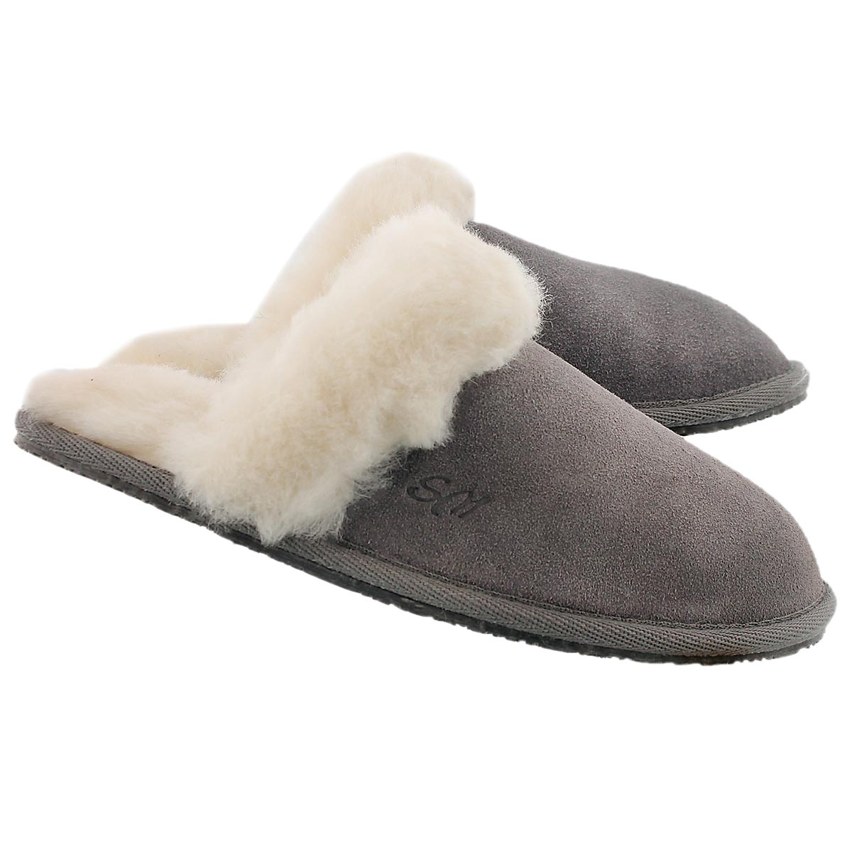 Lds Sassy grey mem. foam slipper