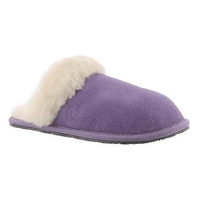 SoftMoc Women's SASSY purple memory foam slippers