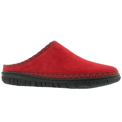 Lds Saturn red memory foam slipper