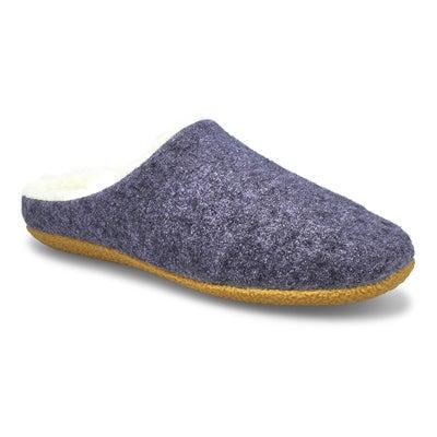 Lds Saturn 3 blue open back slipper