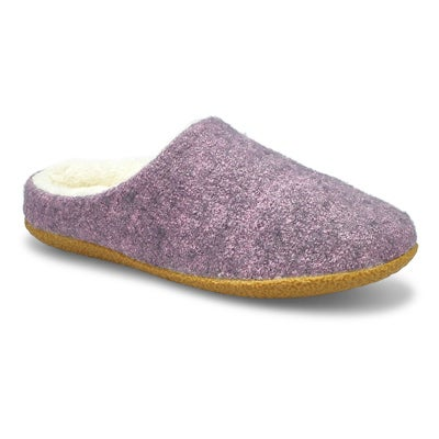 Lds Saturn 3 purple open back slipper
