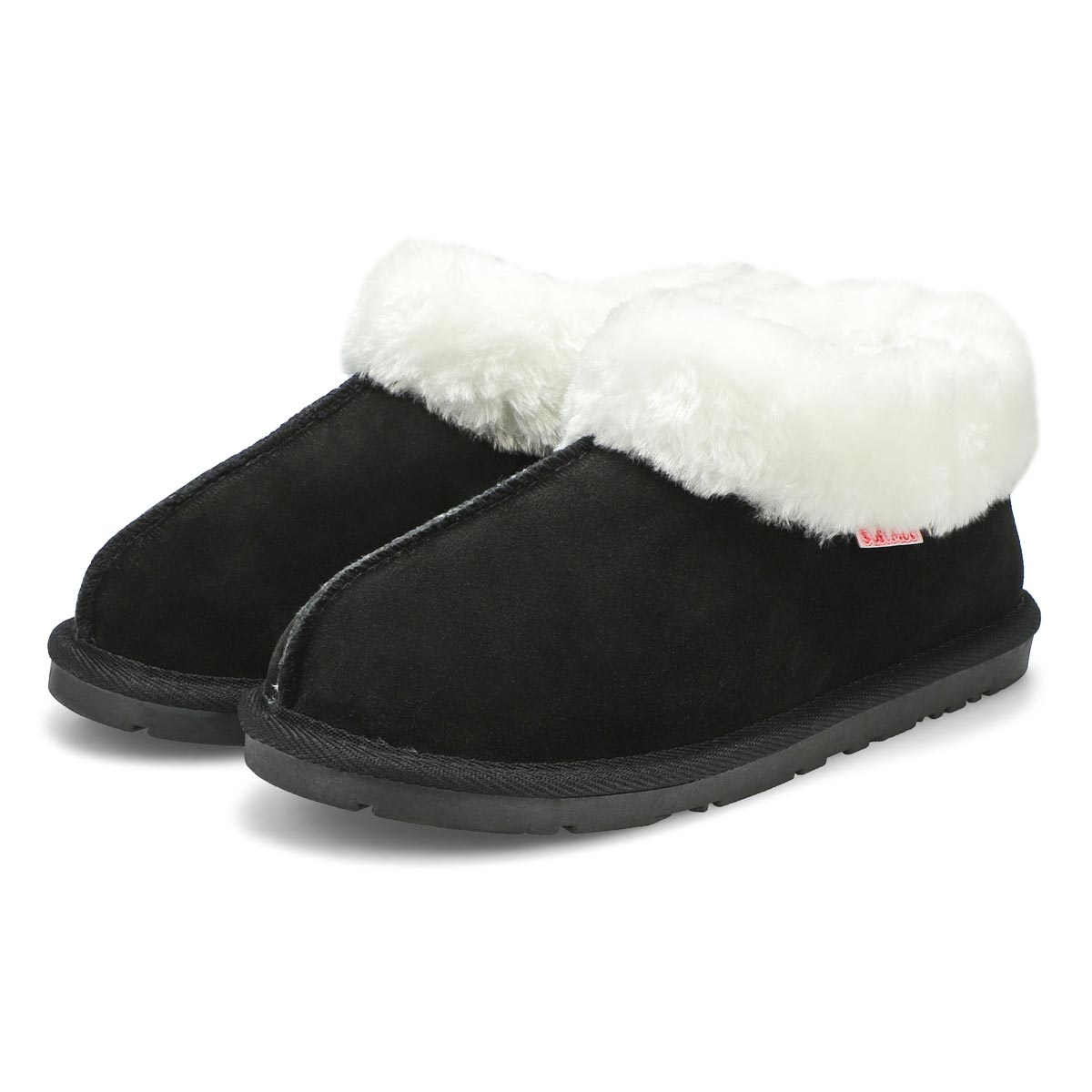 Lds Savanna black suede bootie