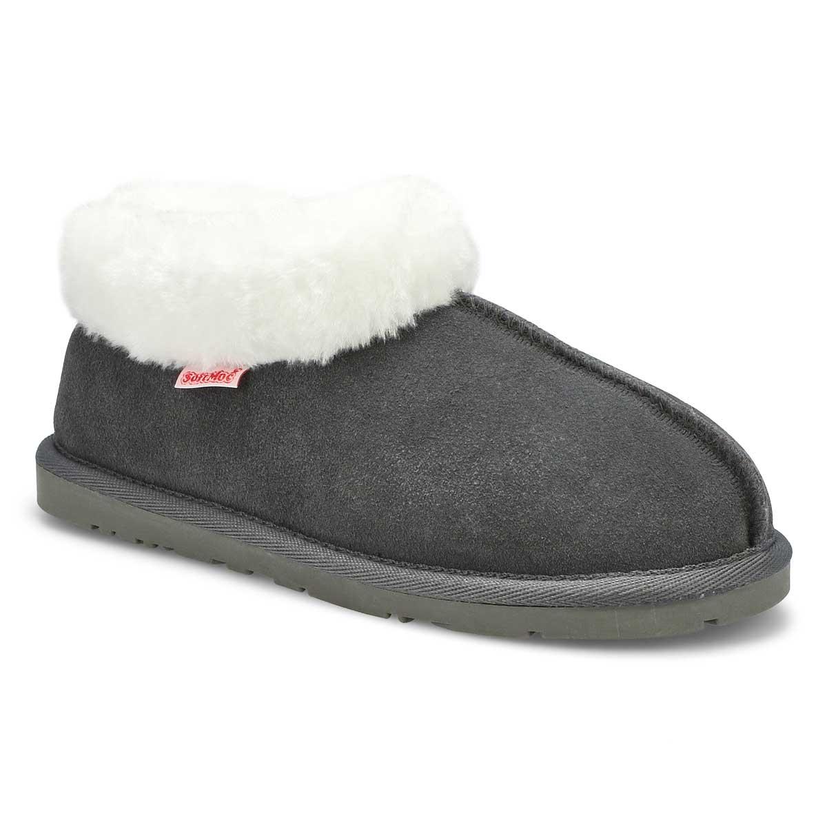 Lds Savanna grey suede bootie