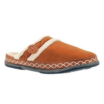 Foamtreads Women's SAVOY spice micro suede slippers
