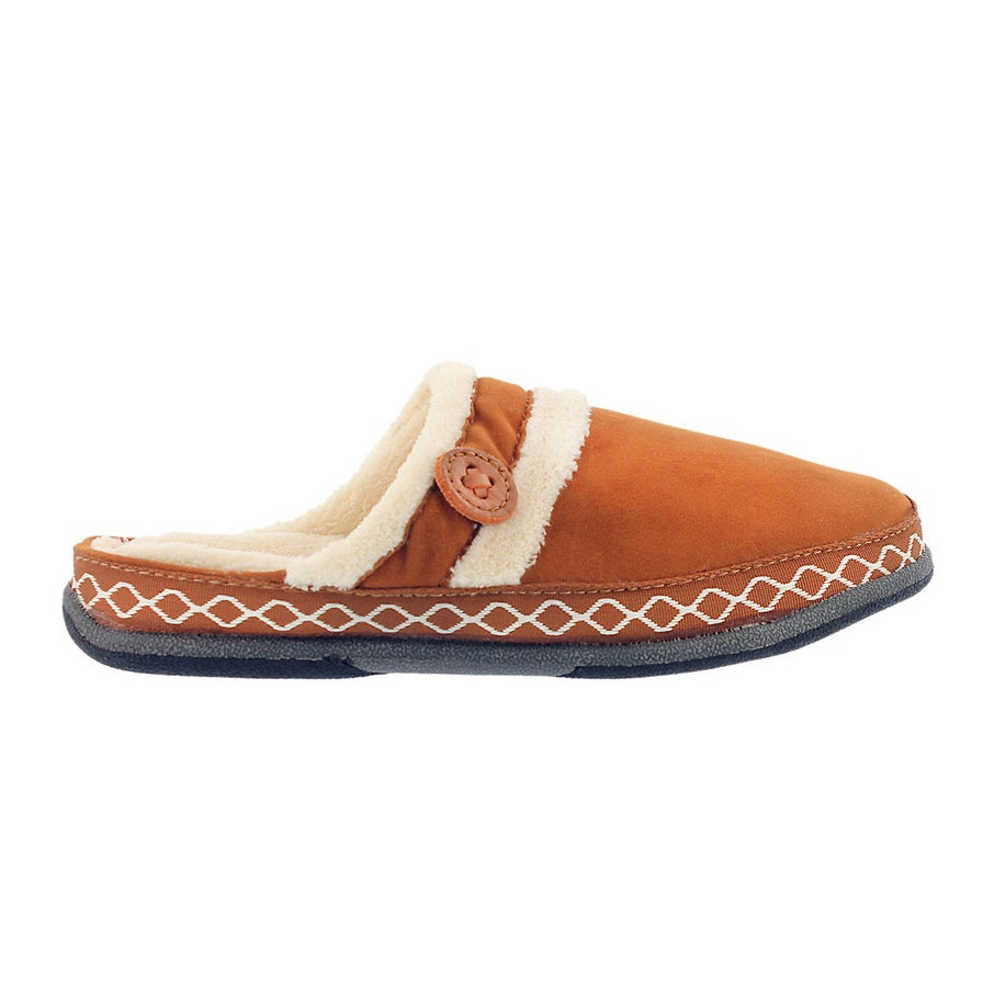 Lds Savoy spice micro suede slipper