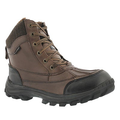 SoftMoc Men's SAWYER 2 brown waterproof winter ankle boots