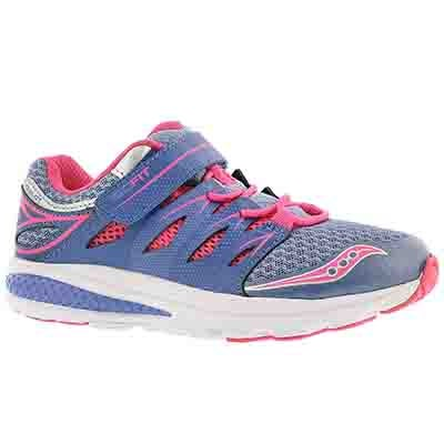 Saucony Girls' ZEALOT 2 periwinkle running shoes
