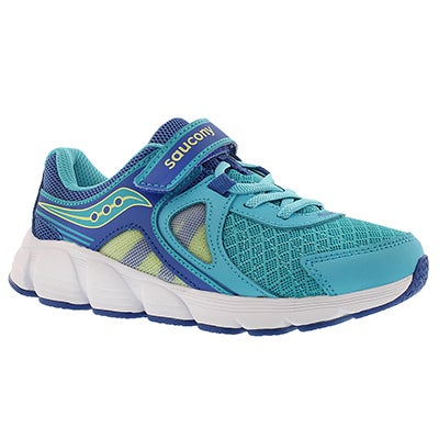 Saucony Girls' KOTARO 3 turq/citron running shoes