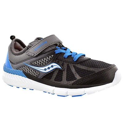 Saucony Boys'  VOLT grey/black/blue running shoes