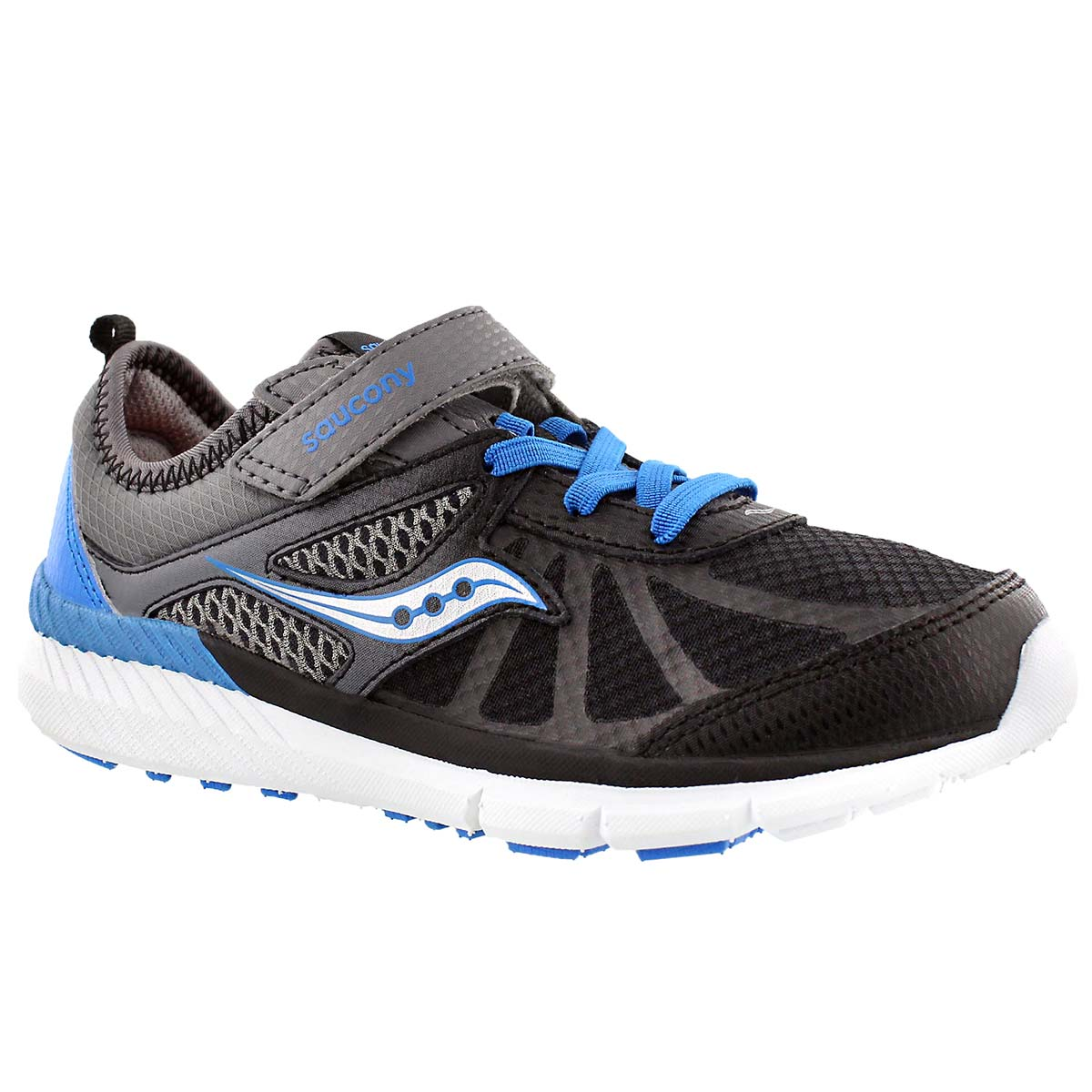 Boys'  VOLT grey/black/blue running shoes