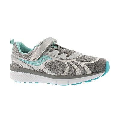 Grls Velocity AC slvr/turq running shoe