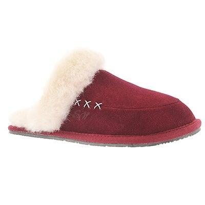 SoftMoc Women's SCARLETT burgundy memory foam slippers