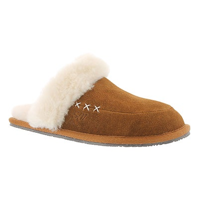 Lds Scarlett chestnut mem. foam slipper