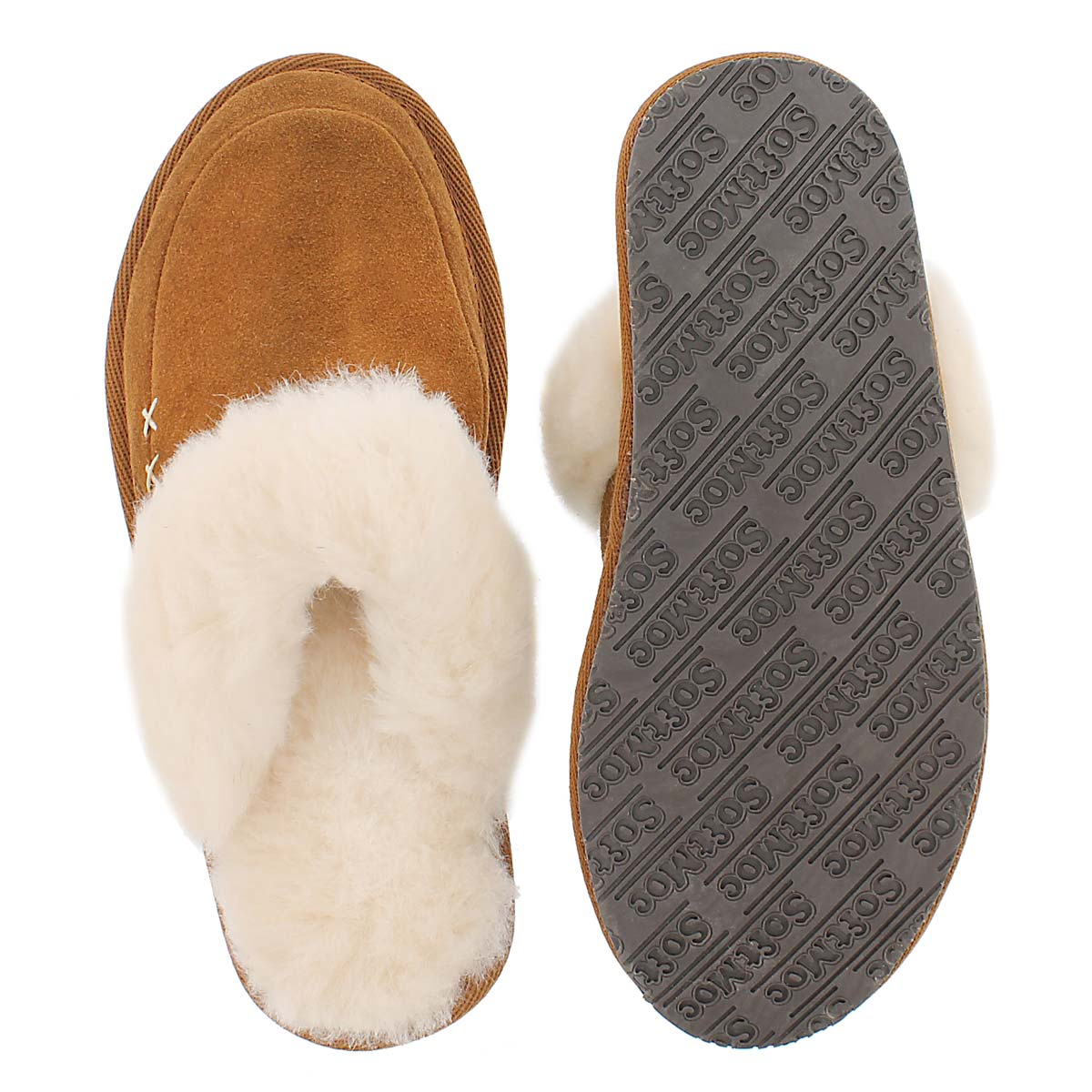 Lds Scarlett chestnut mem. foam slipper