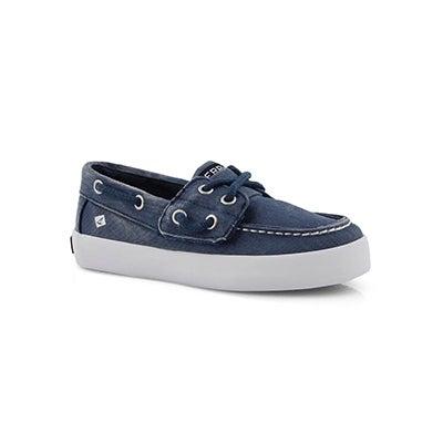 Inf-b Tuck Jr. navy boat shoe