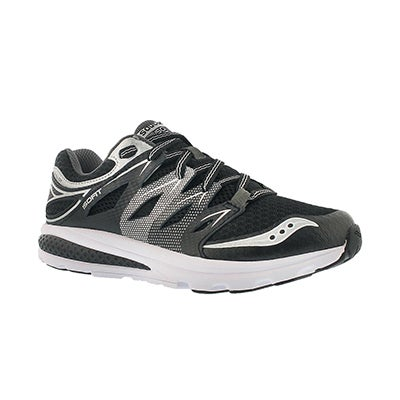 Saucony Boys' ZEALOT 2 black lace up running shoes