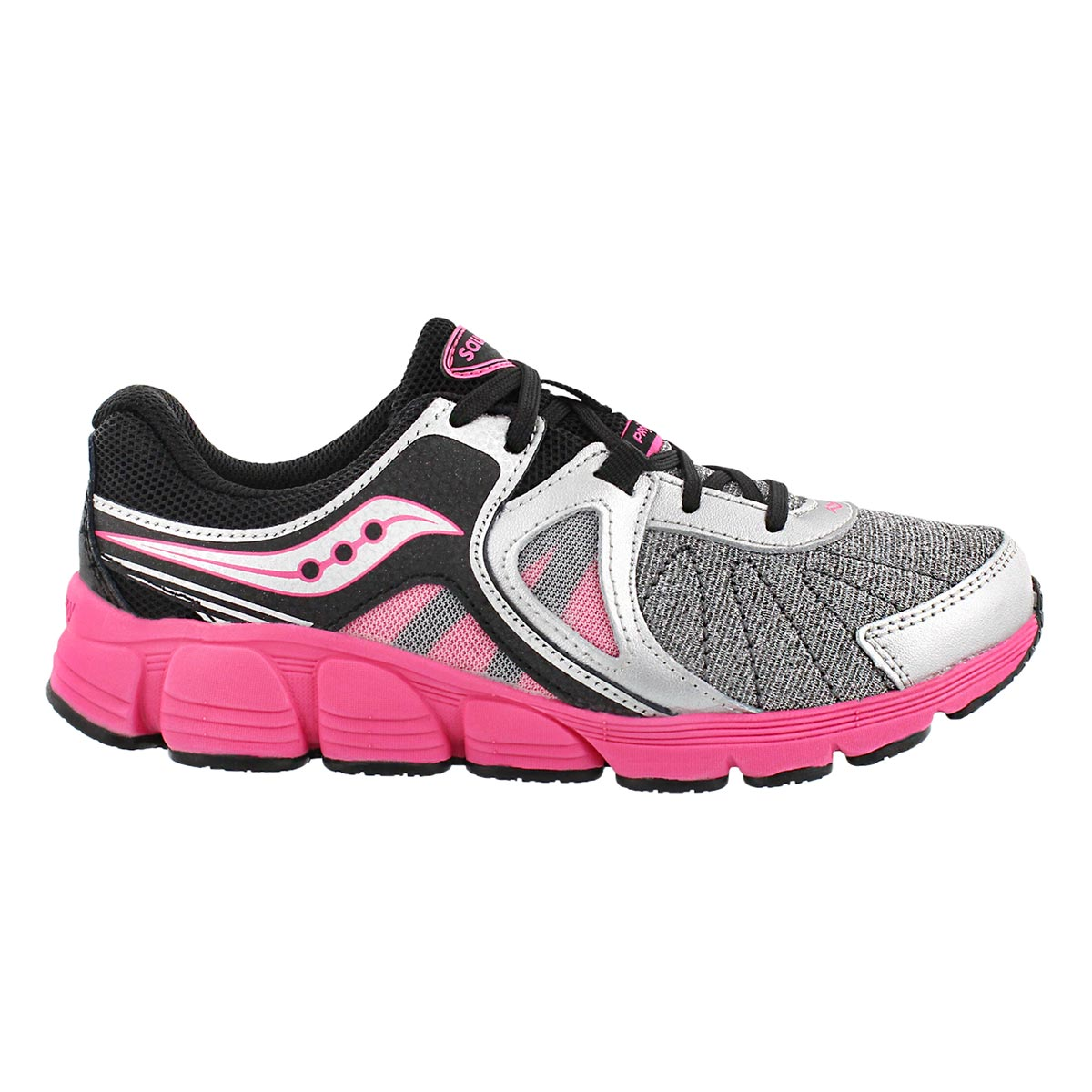 Grls Kotaro 3 silv/pnk lace up runner