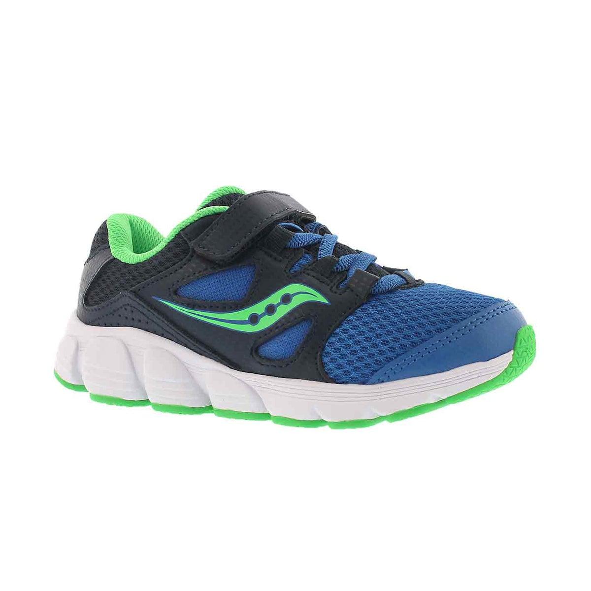 Boys' KOTARO 4 navy/green lace up runner