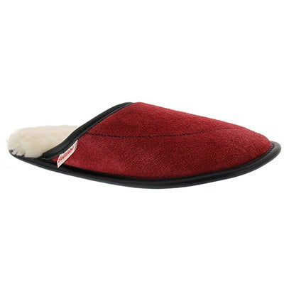 SoftMoc Women's SCUFF red washable slippers