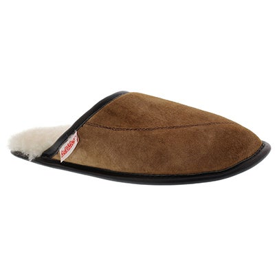 SoftMoc Women's SCUFF spice washable sheepskin slippers