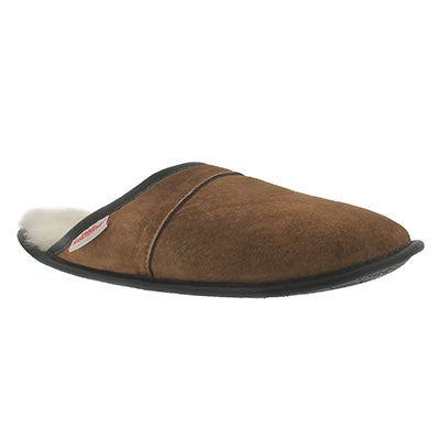 SoftMoc Men's SCUFF spice washable sheepskin slippers