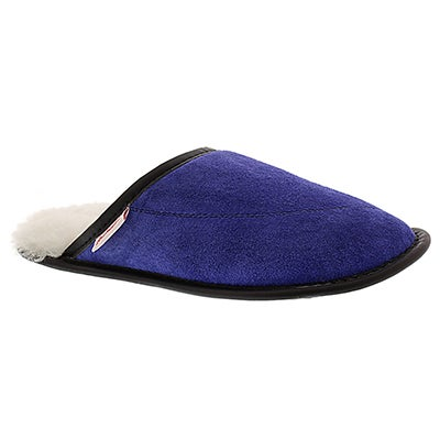 SoftMoc Women's SCUFF blue washable open back slippers