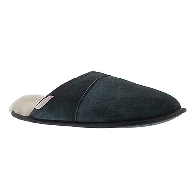 SoftMoc Men's SCUFF navy washable sheepskin slippers