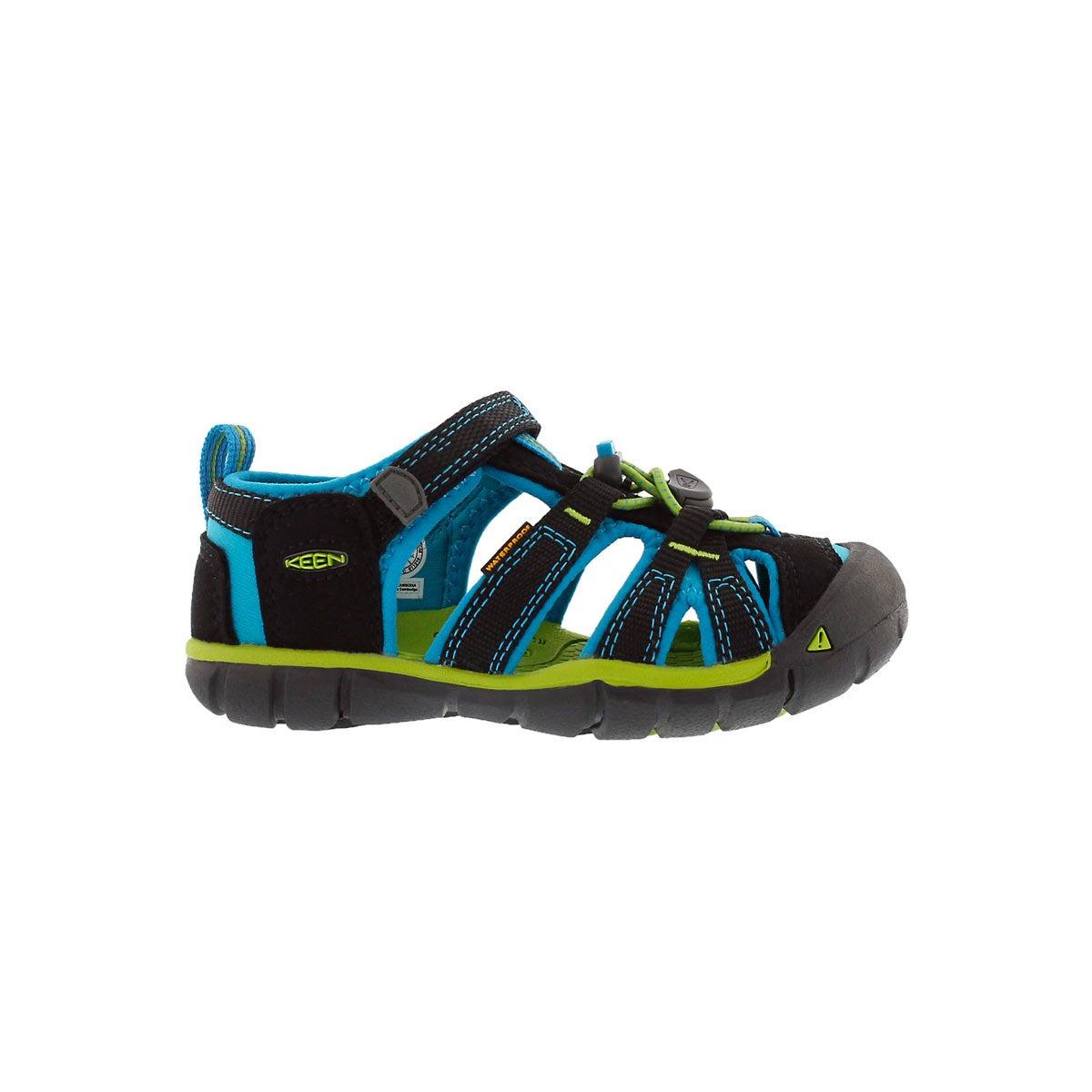 Inf-b Seacamp II black/blue sport sandal