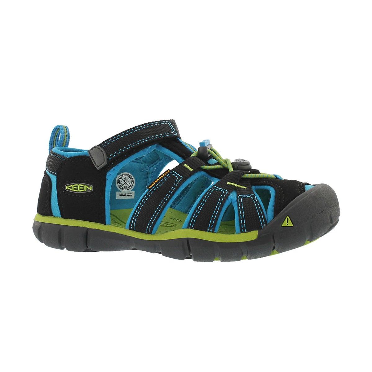 Boys' SEACAMP II black/blue sport sandals