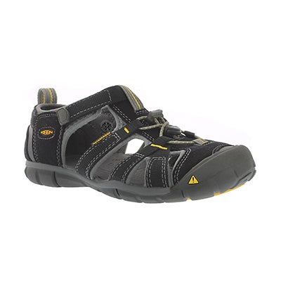 Keen Boys' SEACAMP II black/yellow sport sandals