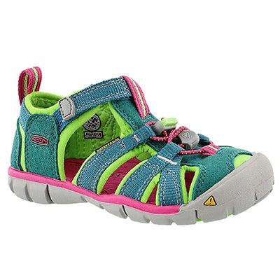 Keen Infants' SEACAMP II green/pink sport sandals