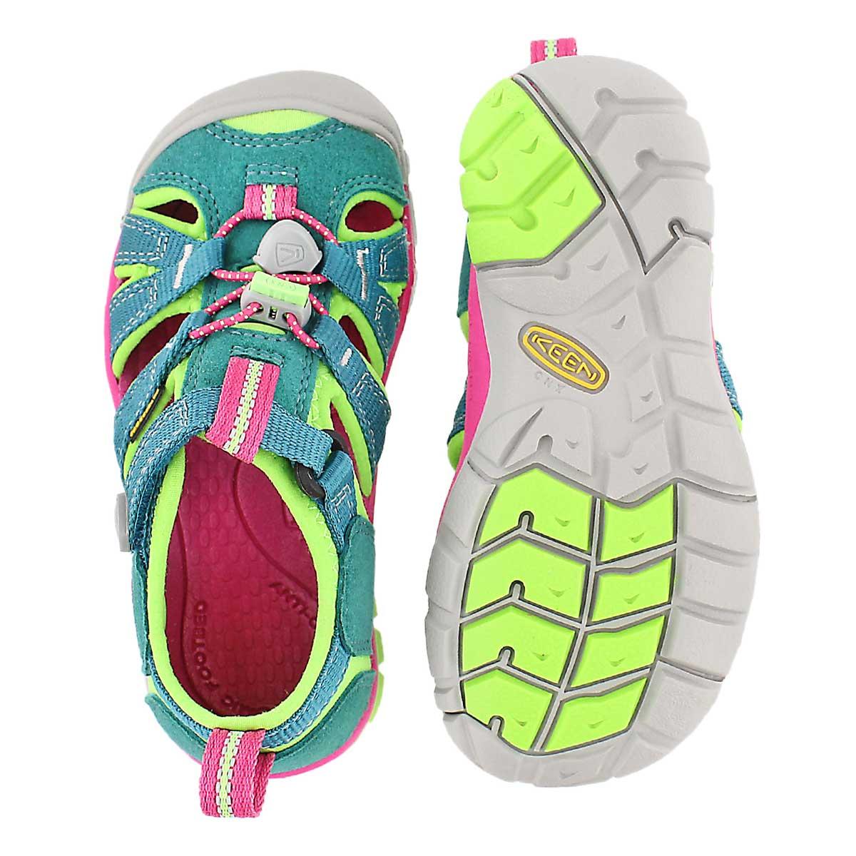 Inf Seacamp II green/pink sport sandal